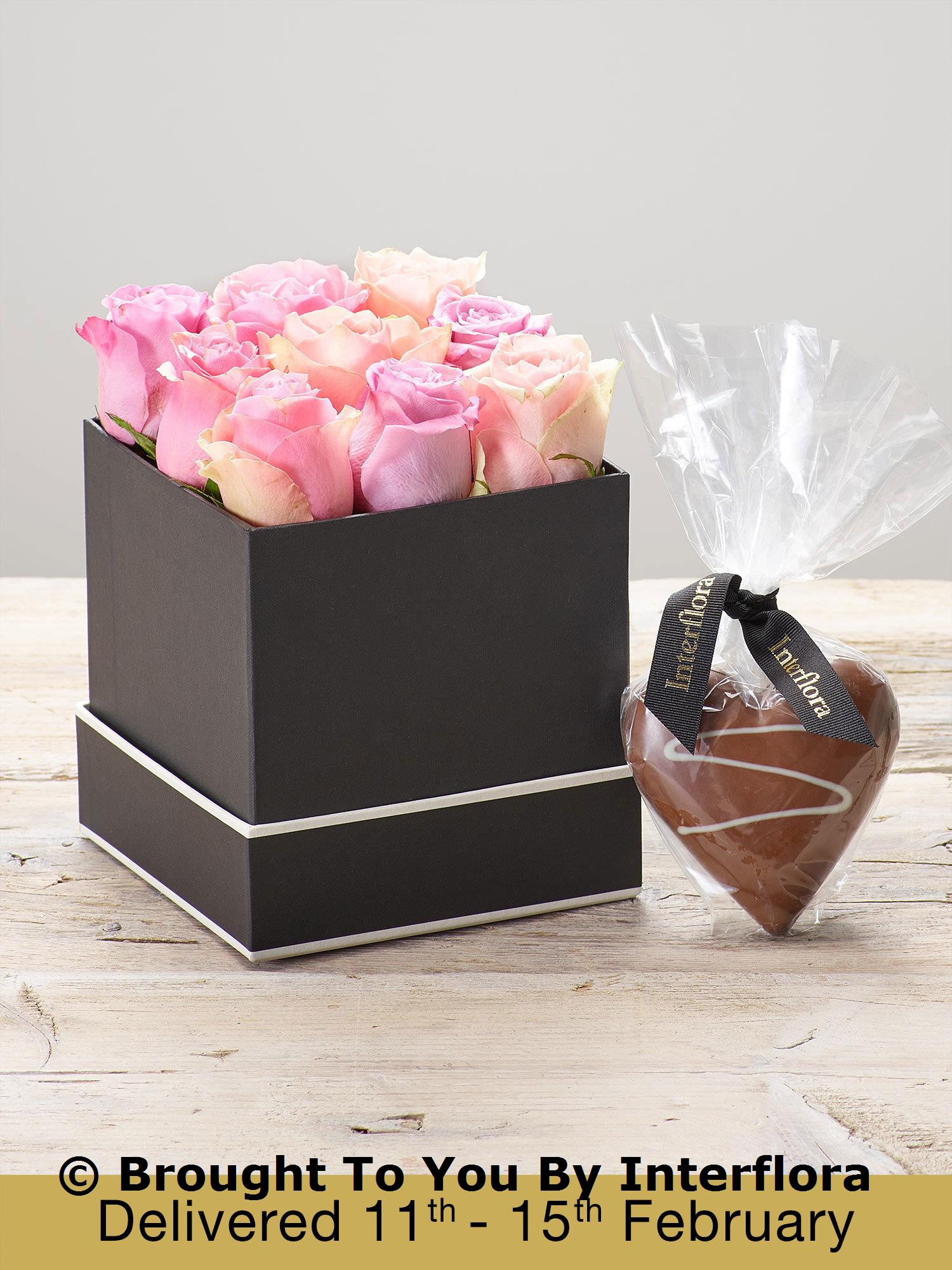 Pink Symphony Hatbox with Chocolate Heart